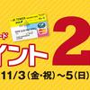 【 予告 】JRタワースクエアカード ポイント2倍!!