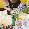 4ケ月ぶりに、おれんじカフェで絵手紙教室がありました