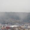 笠置山は雪雲に覆われたりしている