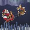 サンタクロースとトナカイたちがプレゼントを配り渡る大忙しなクリスマスイブ✨