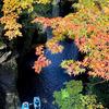 灯台下暗し 高千穂峡の紅葉がきれいだった。