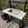 別荘DIY 屋外用の洗面台を作る