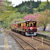 神戸(ごうど)駅、春の風景