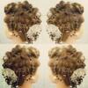 『西洋な雰囲気のヘアセット&ヘア飾り』