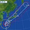 台風24号接近中!!