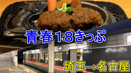 【青春18きっぷ】埼玉県内から名古屋まで在来線で移動!