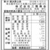 株式会社三陽商会 第81期決算公告