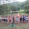 5年生:林間学習2日目⑪ キャンプファイヤー ダンスで開幕