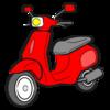 バイクは表玄関の方に停めて下さい