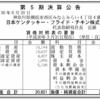 日本ケンタッキー・フライド・チキン株式会社 第5期決算公告