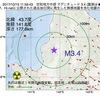 2017年10月15日 11時59分 空知地方中部でM3.4の地震