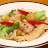 海老と栗の2種胡椒炒め
