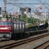 8月4日撮影 東海道線 平塚~大磯間 久しぶりの撮影(^_-)-☆ 貨物列車2本 1097ㇾ 2079ㇾ