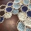 久しぶりにモチーフ編みのスヌード、編みました♪
