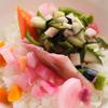 夏のピクルスと人参の味噌汁