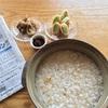 【シニア朝ごはん】おこげのお粥と高校球児の昼ご飯