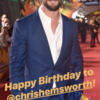 Happy Birthday クリス・ヘムズワース!instagram紹介