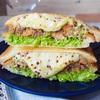 【レシピ】チーズとろーり♡鯖の味噌煮缶とキャベツのホットサンド♡