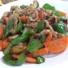 幸運な病のレシピ( 1956 )朝:牛肉と人参グラッセ風、鮭、塩サバ、ヤナギカレイ、味噌汁(大根)、マユのご飯