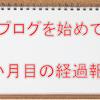 2か月目のブログ経過(PV・収益・アクセス数)を報告!