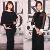 キム·ヘス,ジェシカ,ニューヨークファッションウィークに輝いた優雅なブラック·ドレスルック