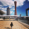ウルトラマンの街、神戸を息子と走る。