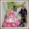 ジェニーちゃんサイズのカラードレスを作りました☆ ピンクの夢見るふわふわバルーンドレスです!