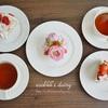苺のケーキづくりと頂き物のかわいいゼリー/Strawberry Cake