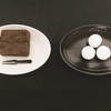【白】【黒】夜分糖分いい気分についての覚書|セブンカフェ「ガトーショコラ」「アーモンドボール」