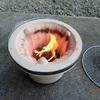 竹炭での焼肉 フライパンで Grilled meat using bamboo charcoal