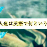 人魚は英語で何という?気になる海外の人魚事情もご紹介します!