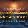 【World of Warcraft】時期拡張のShadowlandsのリリース遅延が決定したので、私の思ったことをまとめました