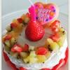 1歳のお誕生日にオススメ!水切りヨーグルトのバースデーケーキ