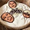 きっとクスッと笑ってくれるだろう、そう想いながら作った似顔絵入り誕生日ケーキを喜んでもらえて良かった!