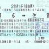 GoToトラベル地域共通クーポン使用の2枚きっぷ