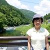 日本 背景は根尾川の清流
