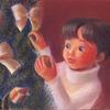 パステル色鉛筆「おとちゃんとクリスマスツリー」