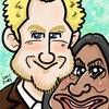 ハリー&メーガンの似顔絵