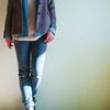 トレンドキーワード1「テーラリング」 AKTEのジャケットとダンガリーシャツのコーデ