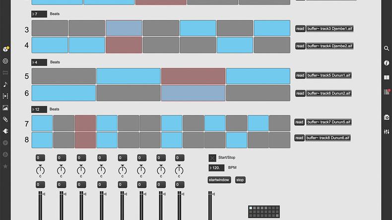 Maxで作る自分専用パッチ〜Patch41 8trでポリリズムを形成するサンプル・プレイヤー