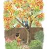 柿の木に登って美味しいおやつを採ろう😋
