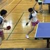 なつき選手・れな選手 女子ダブルス二回戦。卓球、鹿児島インターハイ