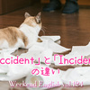 【週末英語#124】似ているようで違う「accident」と「incident」
