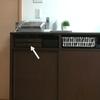 サイドボードの収納 その2 引き出しはよく使う文具&衛生用品を。