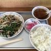 松風亭のレバニラ炒め定食