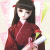 卒業イメージのドールフォト なぜか背景は桜