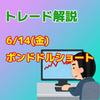 【トレード解説】6/14(金)ポンドドルのショート