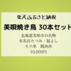 【ふるさと納税】北海道美唄市「福よし・たつみの焼き鳥30本セット」をレビュー