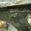 1971 マスタングマッハ1 クォーターフレームの塗装剥がし