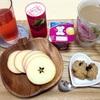 7月9日の食事記録~テレビで紹介されたりんごのスターカット